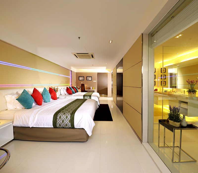 The Hotel Was At 26 Level High Possesses 222 Bedroom That Adopting Modern Concept For Interior Design